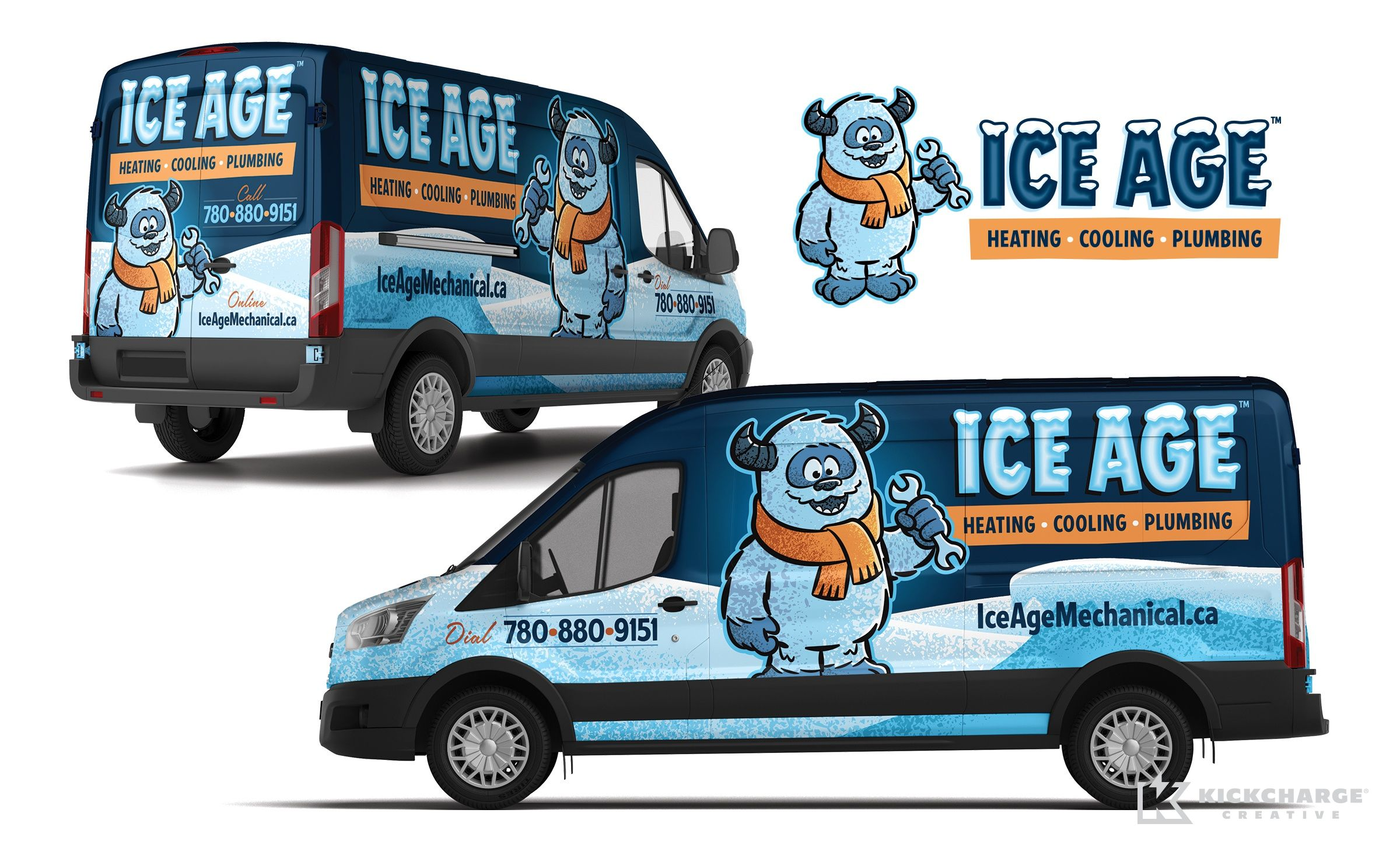 Ice Age Kickcharge Creative Car Wrap Car Wrap Design Vehicles