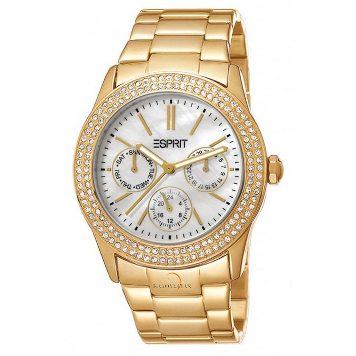 Esprit Female Peony Watch Es103822012 Gold Analog Horloges Dames Horloges Horloge