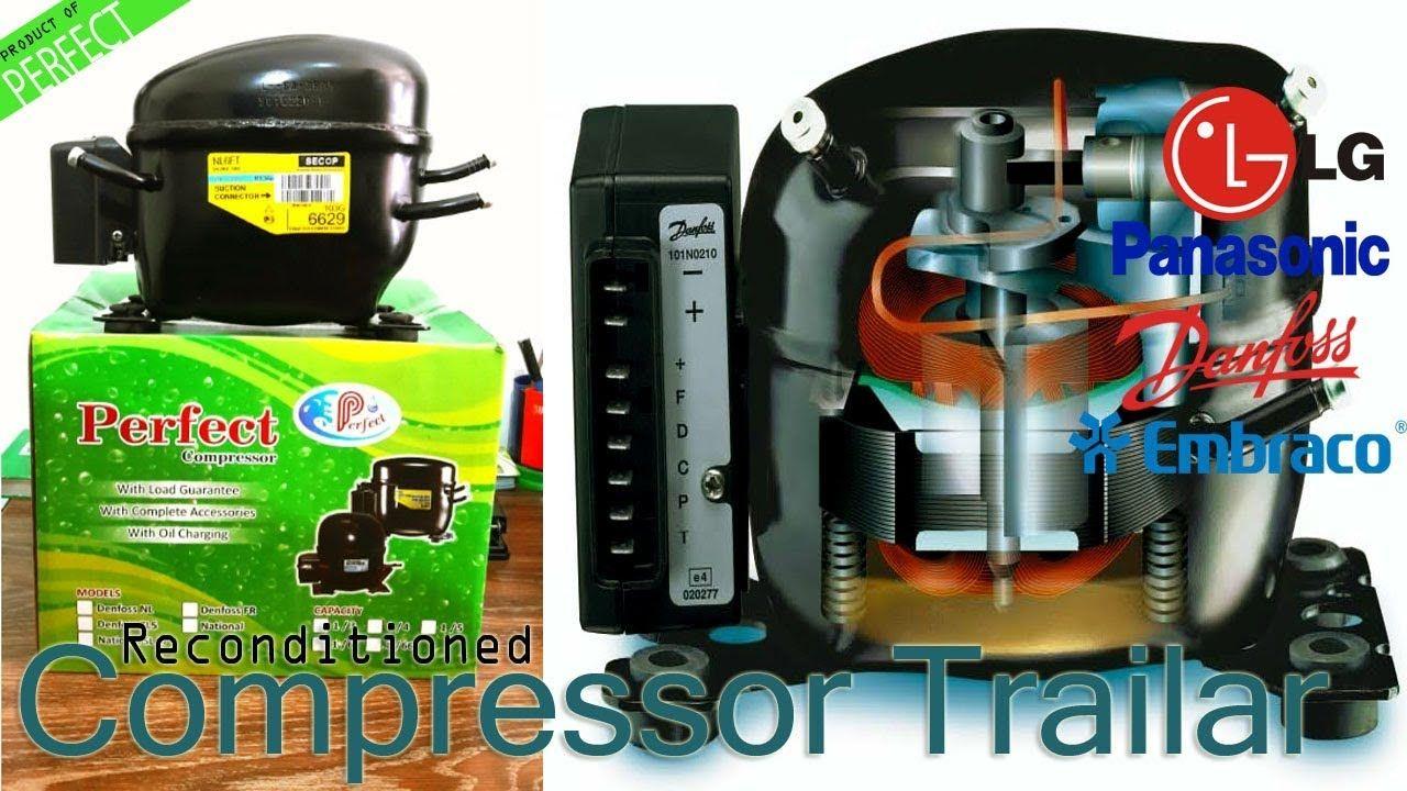 Refrigerator Reconditioned Compressor Repairing Trailer