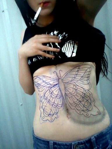 Upper Stomach Tattoos For Women Pin Abdomen Butterfly Tattoos Side Tattoos For Women Stomach Tattoos Tummy Tattoo