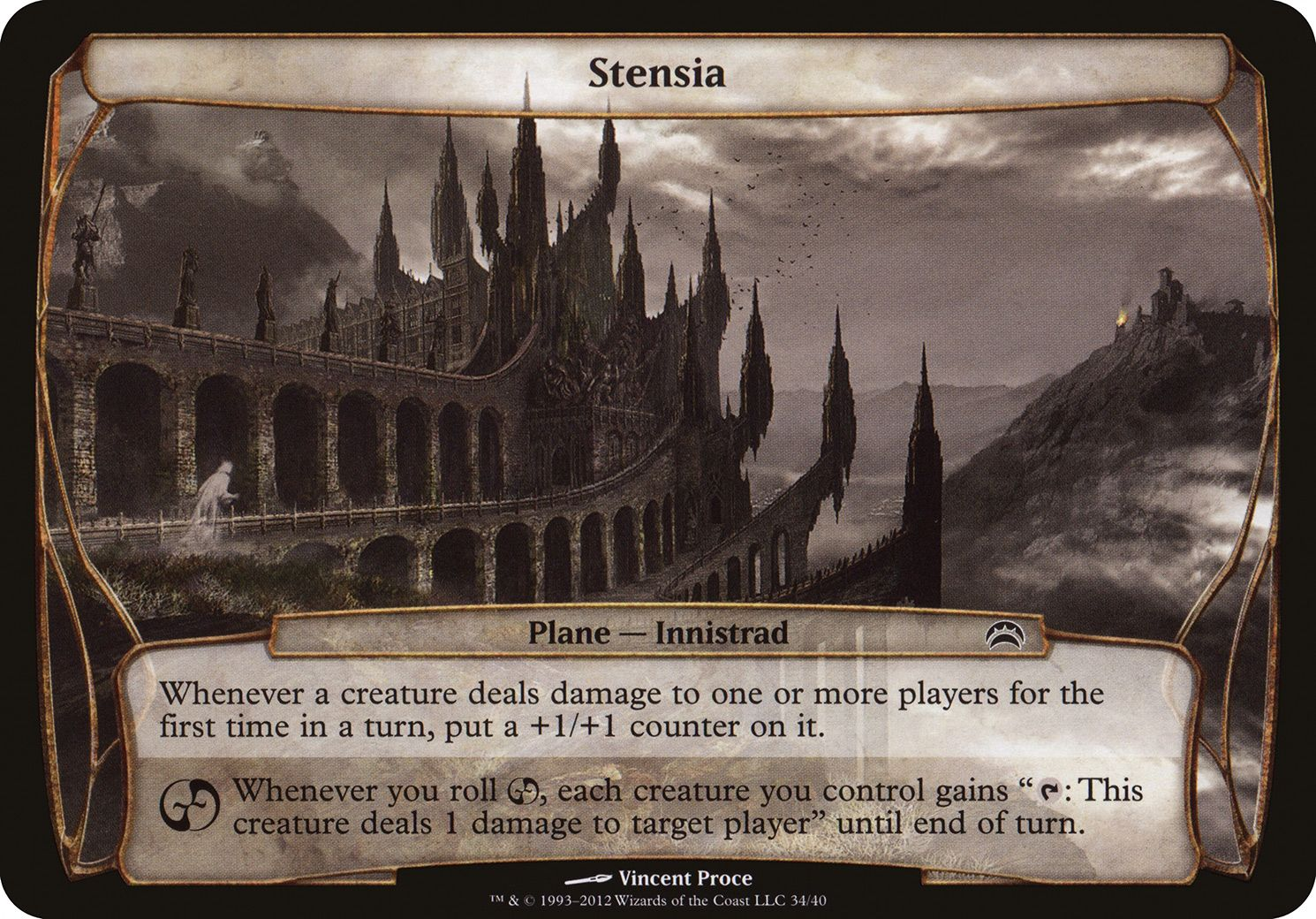 Plane Planechase 2012 Edition Stensia Magic The Gathering Card Layout The Gathering
