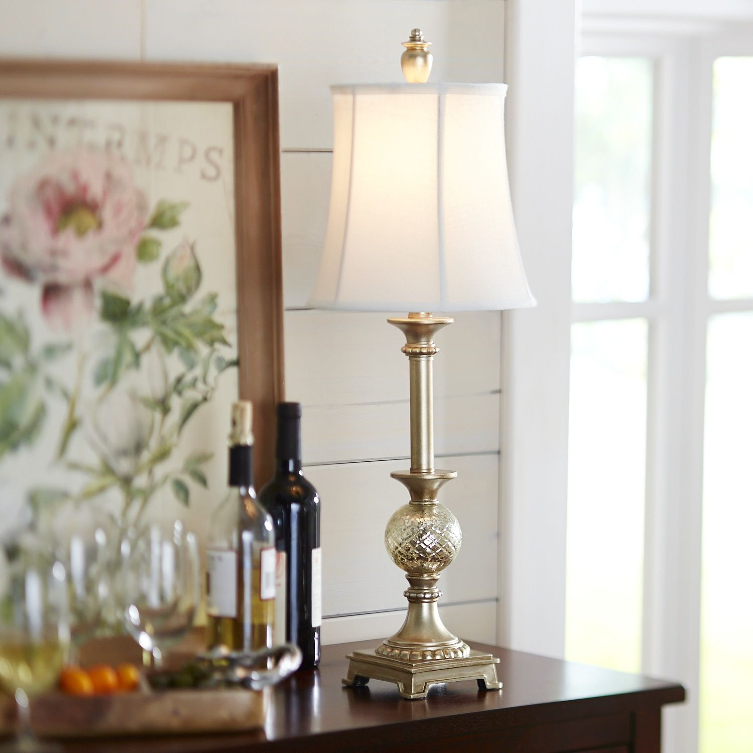 My new console light Shimmer Buffet Lamp Pier 1 Imports My