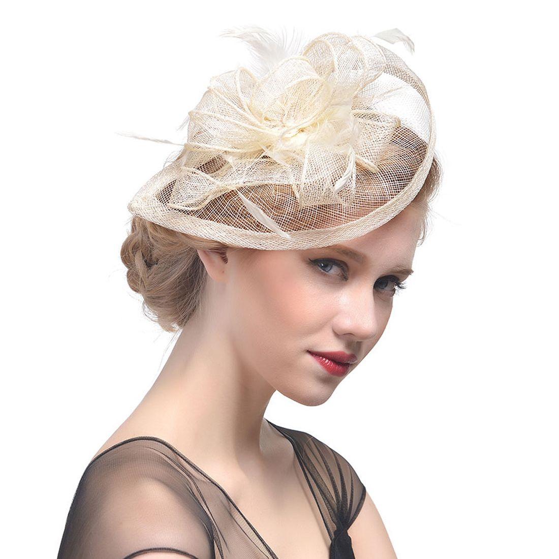1f71d3827deb86 White Fascinator, Fascinator Hats, Occasion Hats, Wedding Fascinators,  Fascinator Hairstyles, Let