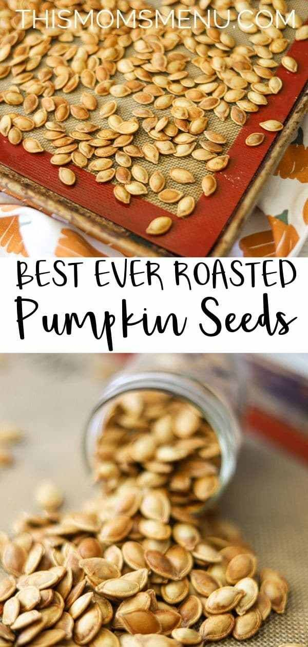 The BEST EVER Roasted Pumpkin Seeds - This Mom's Menu