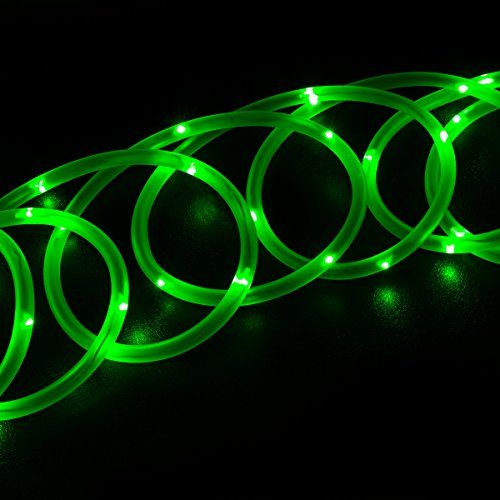 Light Ropes And Strings Interesting Wyzworks 33Ft Green 100 Leds Solar Powered Outdoor Rope Lights
