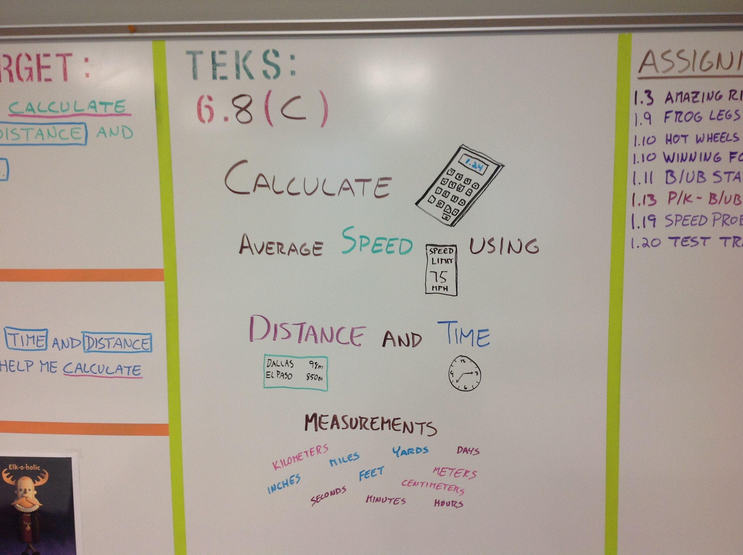 Teks 6 8 C Calculating Speed