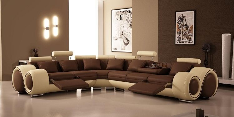 Best Salon Moderne Marron Beige Images - House Design - marcomilone.com