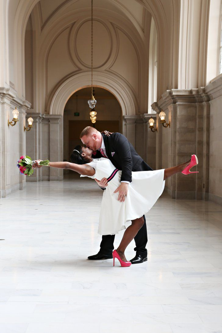 I know this bride from MS and the photog is one of my best friends. <3 You'll Forget All About Fancy Weddings When You See This Couple's City Hall Nuptials