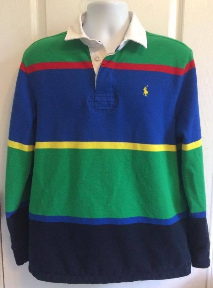 4ce2b12a7 Mens POLO Ralph Lauren RUGBY Shirt COLORBLOCK Stripe Size L/Large Long  Sleeve | Clothing, Shoes & Accessories, Men's Clothing, Casual Shirts |  eBay!