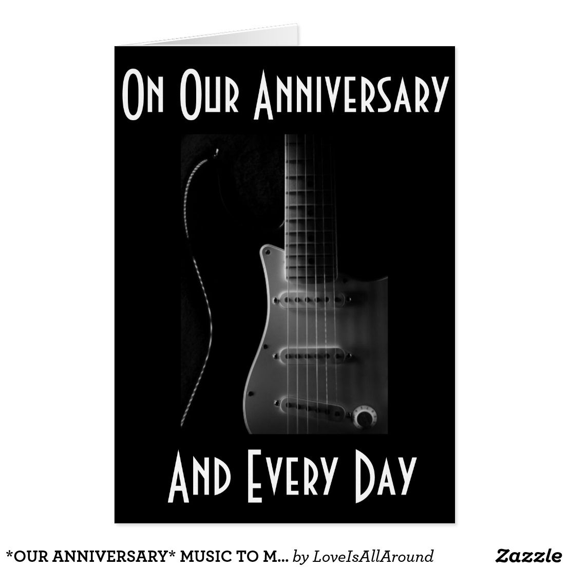 our anniversary music to my life heart dance card