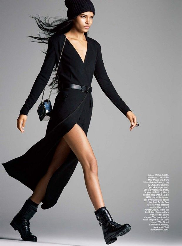 Laura James wear the new lenghts for Marie Claire ...