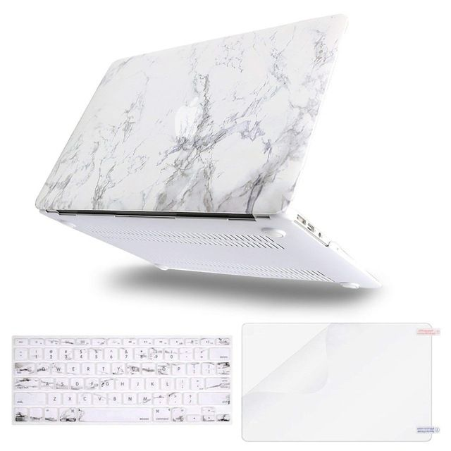 Mosiso Matte Marble Shell Case Cover For Macbook Air 13