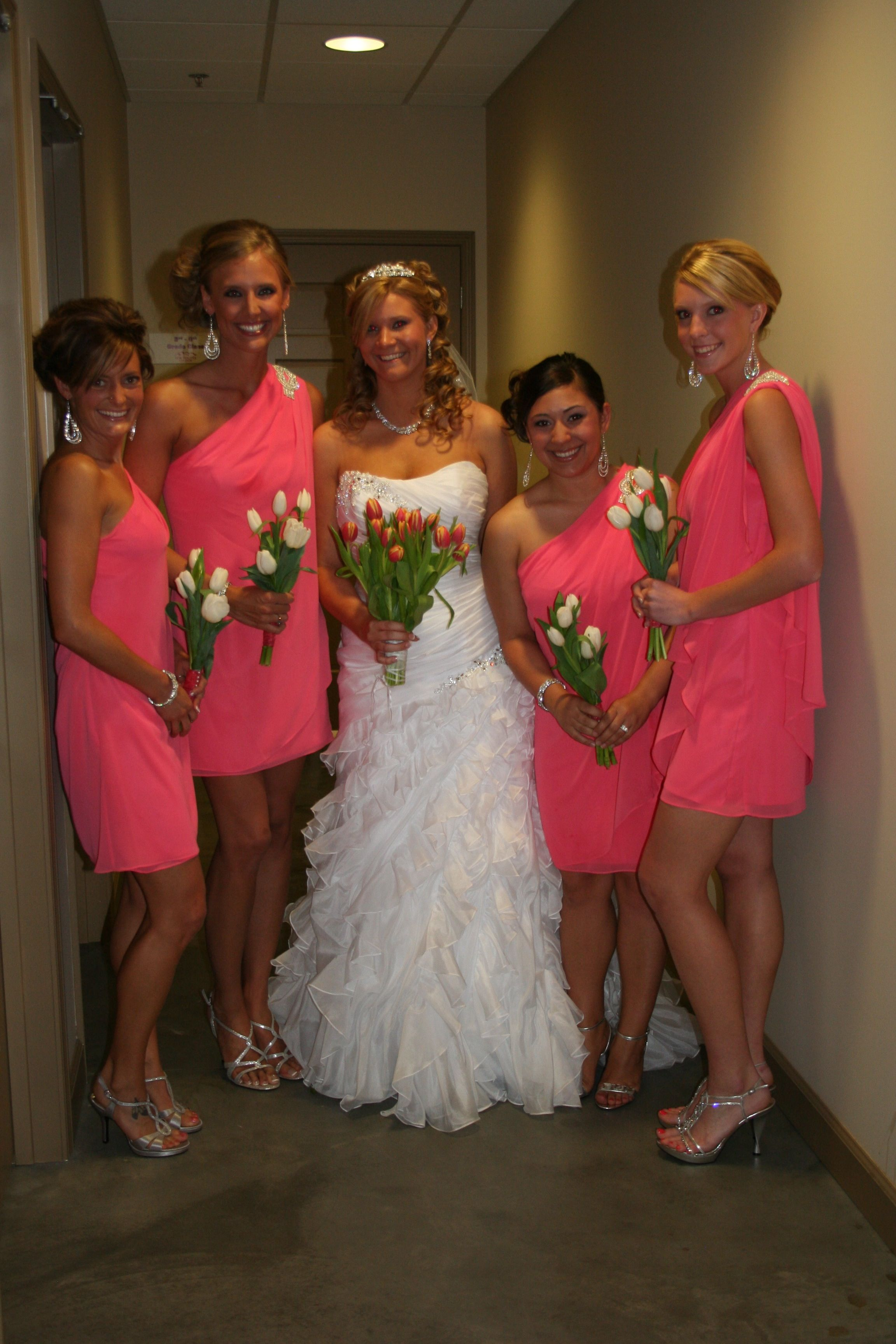 Gorgeous Guava Bridesmaid Dresses From Nordstroms
