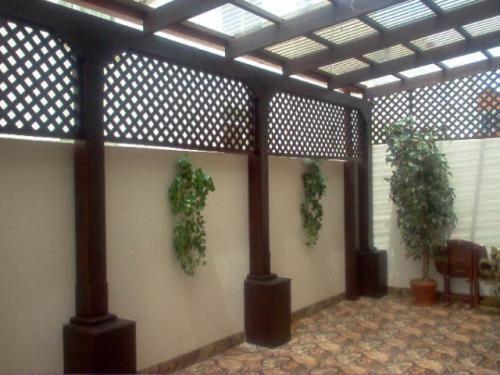 Domos en acrilico pergolas en madera tratada y lamina de for Imagenes de techados