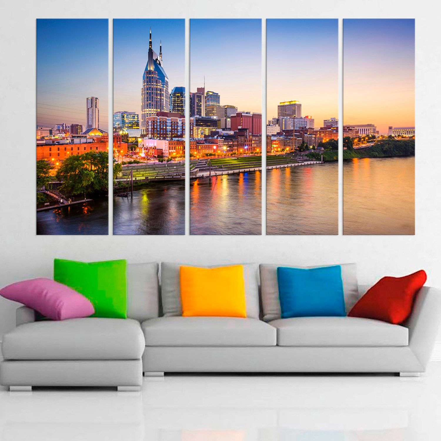 Nashville Tennessee Skyline Canvas United States Wall Art Etsy United States Wall Art State Wall Art Framing Photography