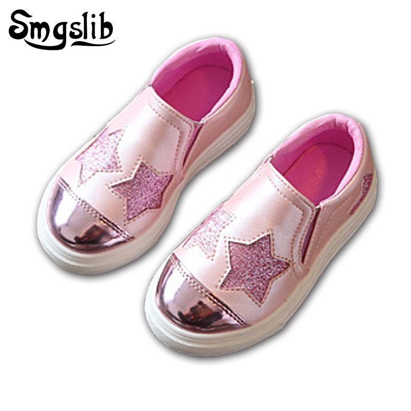 7f8d7e678 comprar Smgslib los niños Zapatos Niñas plata plana casuales Rosa niños  casual Zapatos niño Niñas Zapatos verano moda entrenadores zapatillas de  chicos