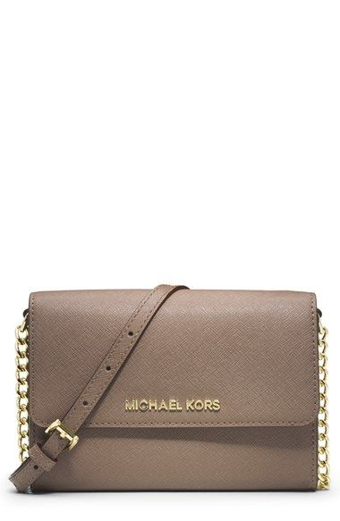 044c23ee0d5c MICHAEL Michael Kors 'Large Jet Set' Saffiano Leather Crossbody Bag |  Nordstrom