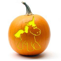 21++ Unicorn pumpkin cut out inspirations