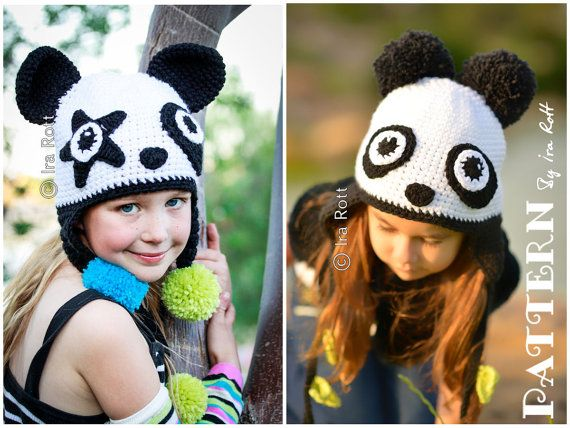 00272b9c211 PATTERN Amanda the Rock-n-Roll Panda and Bamboo the Panda Hat ...