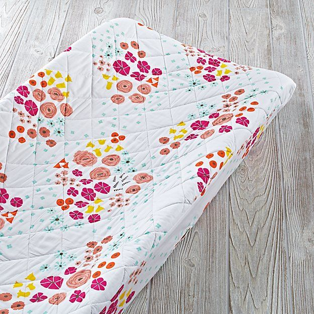 Flower Show Changing Pad Cover The Land of Nod Crib
