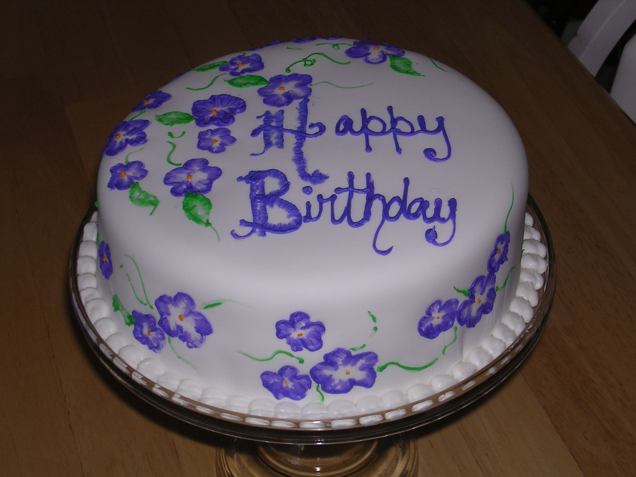 Sample Feminine Cake Designs In Blue Flower Birthday Cake Flower
