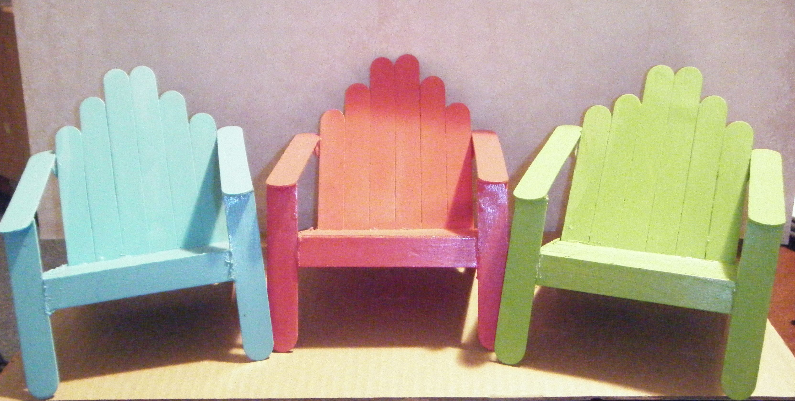 These Beach Chairs Are Made From Wide Popsicle Sticks. We Got The Idea From  My