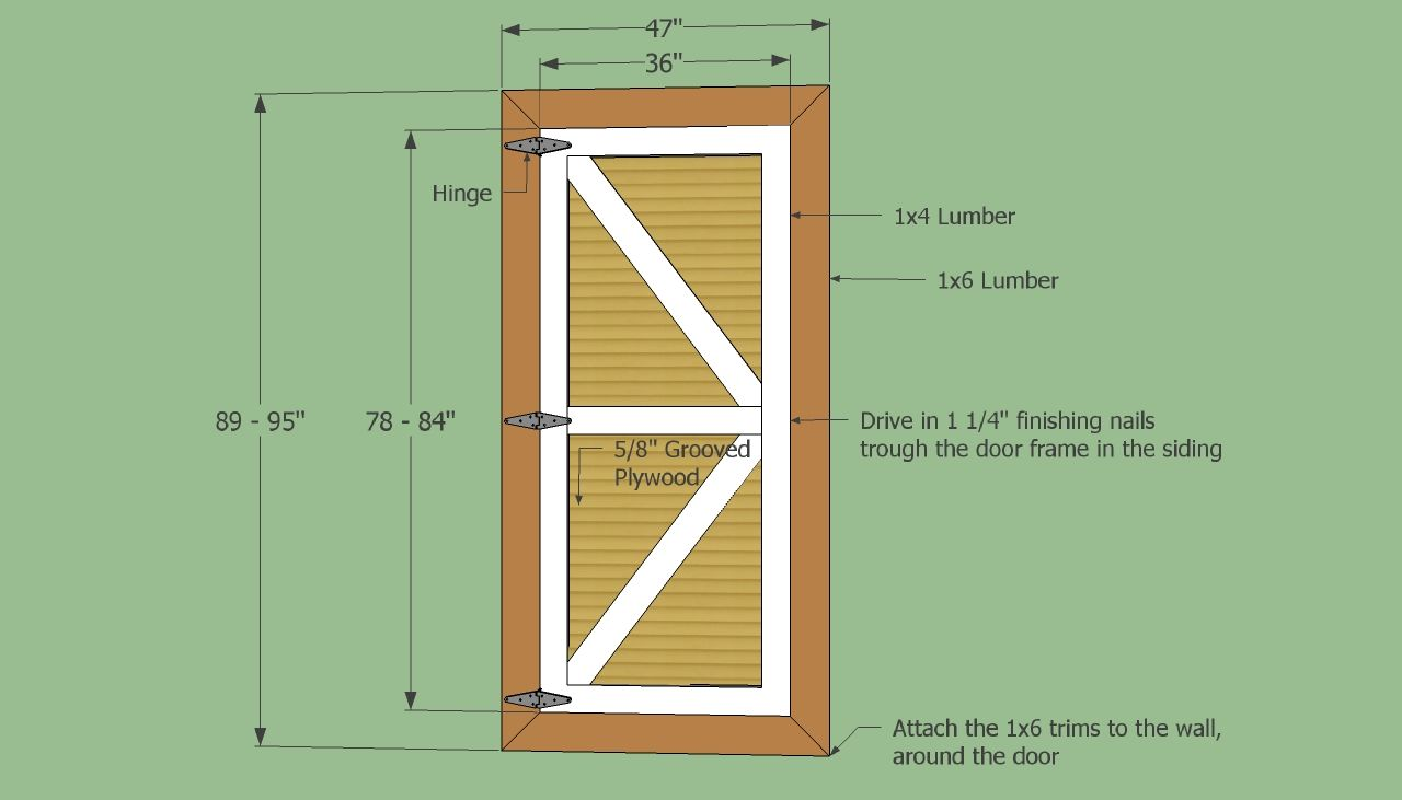 Barn shed door panel ideas your own set of replacement wooden shed doors using shed door - Barn door patterns ...