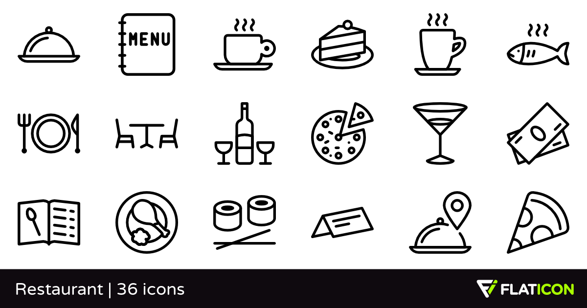 36 Free Vector Icons Of Restaurant Designed By Pixel Perfect Restaurant Icon Icon Vector Icons