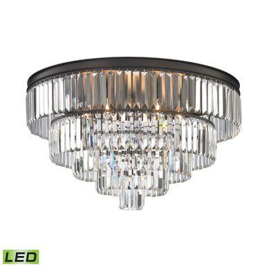 ELK Lighting 15226-6-LED Palacial 6 Light LED Chandelier In Oil Rubbed Bronze
