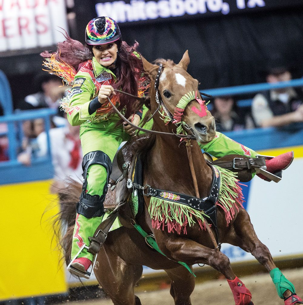 World champion barrel racer Fallon Taylor talks style, safety and her #whatthehelmet moment.