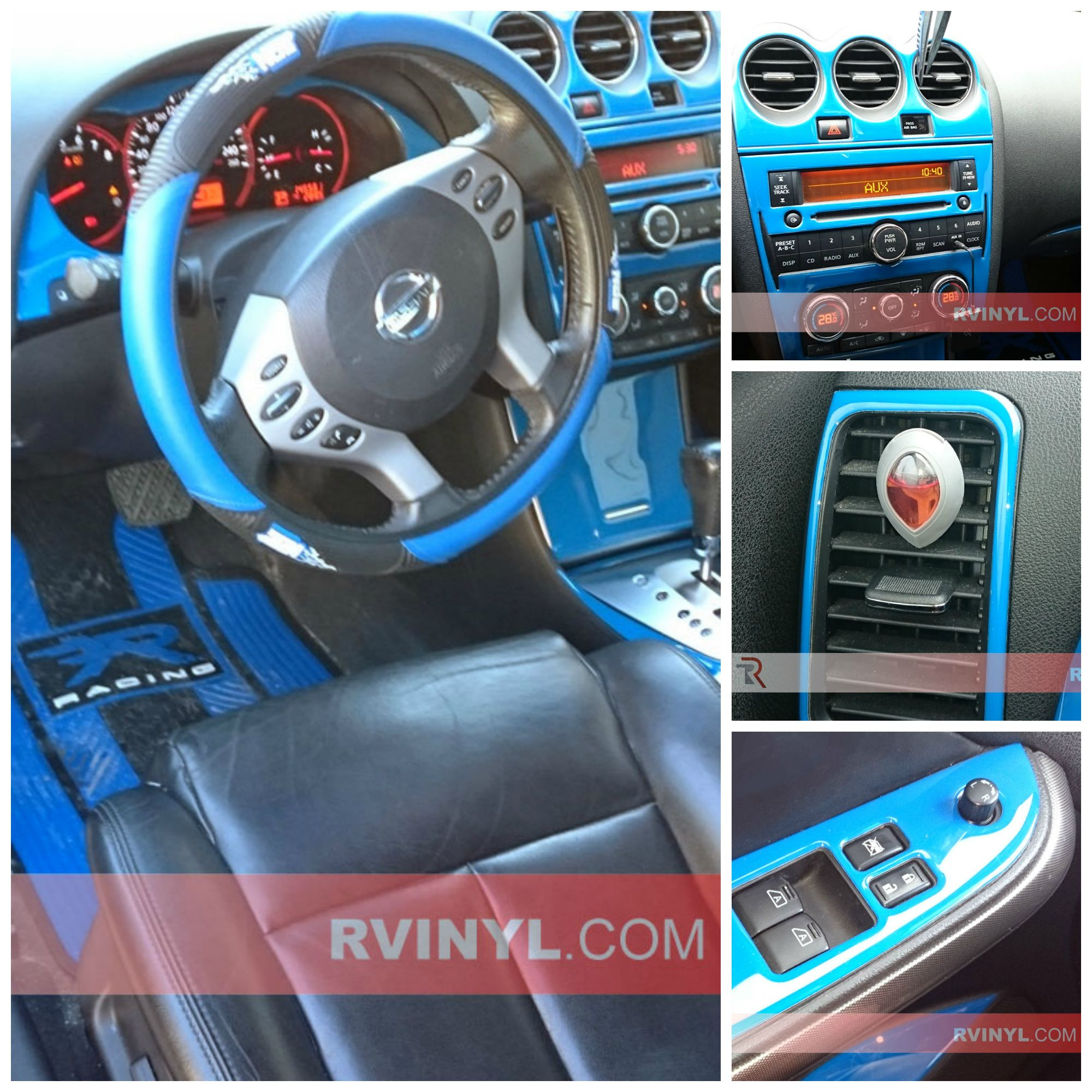 2008 Nissan Altima Coupe With A Gloss Blue Dash Kit Upgrade Nissan Altima Coupe Nissan Altima Nissan Accessories