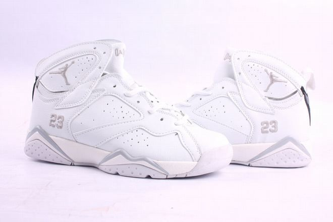 Popular Air Jordan Retro VII All White