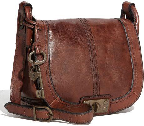 7070c432de0e Fossil Leather Crossbody Bag