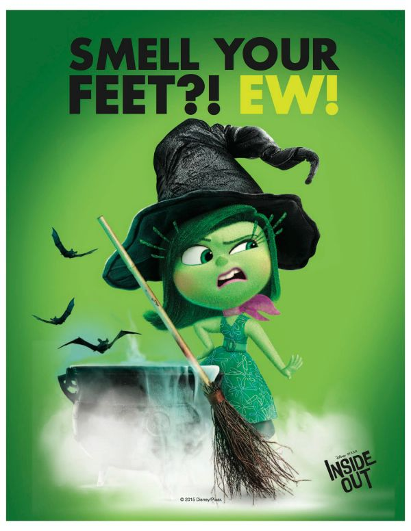 Disney Inside Out Disgust Free Printable Halloween Sign | Free ...