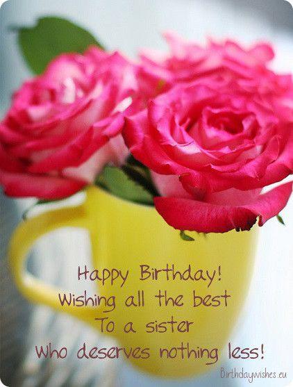 Happy Birthday Big Sister Birthday Wishes Pinterest Happy Happy Birthday Wishes To Big