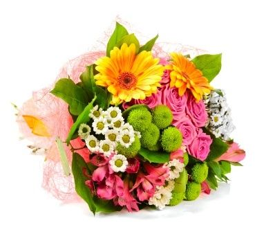 Gorgeous And Original Flower Bouquet With Beautiful Fresh Flowers