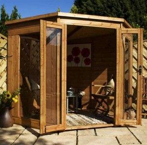 Corner Summer House garden sheds Garden pods Pinterest