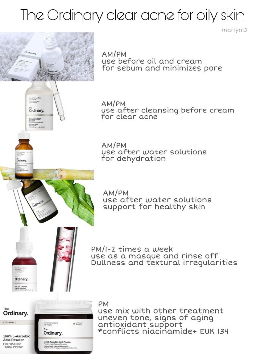 The Ordinary Skin Care Routine For Oily Acne Skin Acne Skin Skin Care Regimen Oily Skin Care