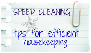 Speed Tips for Efficient Housekeeping {so you have more time for FUN!}