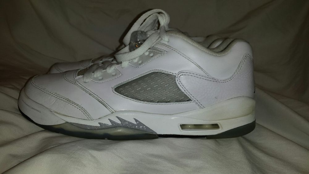 detailed look 2a3b4 45371 Nike Air Jordan 5 RETRO Low GG WHITE BLACK-WOLF GREY 819172-122 SIZE 7.5Y   fashion  clothing  shoes  accessories  kidsclothingshoesaccs  boysshoes  (ebay ...