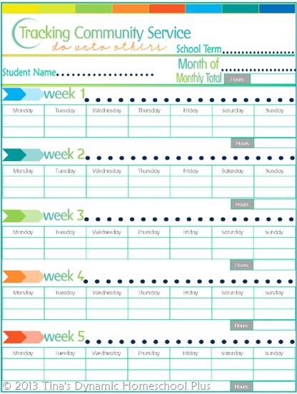 Free Homeschool Community Service Planning Record Homeschool Community Homeschool Planner Community Service Ideas
