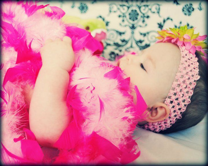 Feather Boa Baby www.tutudarlingboutique.com