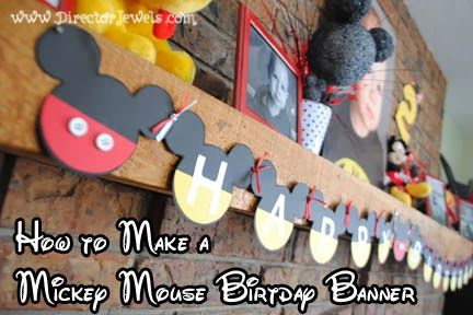 Easy DIY Mickey Mouse Clubhouse Happy Birthday Party Banner Tutorial