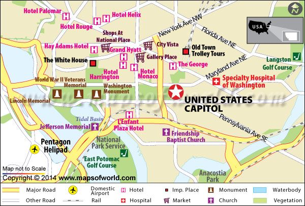 US Capitol Building Washington DC Map Facts Location Best - Washington dc on map of us