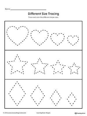 learning basic shapes color trace and connect daycare kindergarten workbooks shape. Black Bedroom Furniture Sets. Home Design Ideas