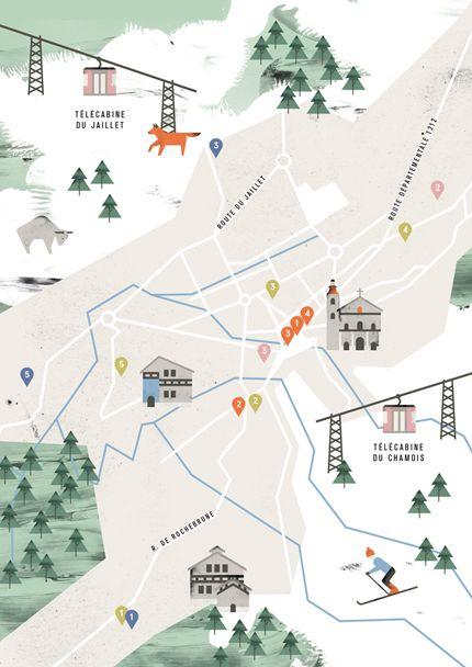 Noémie Cédille -  map of Megeve