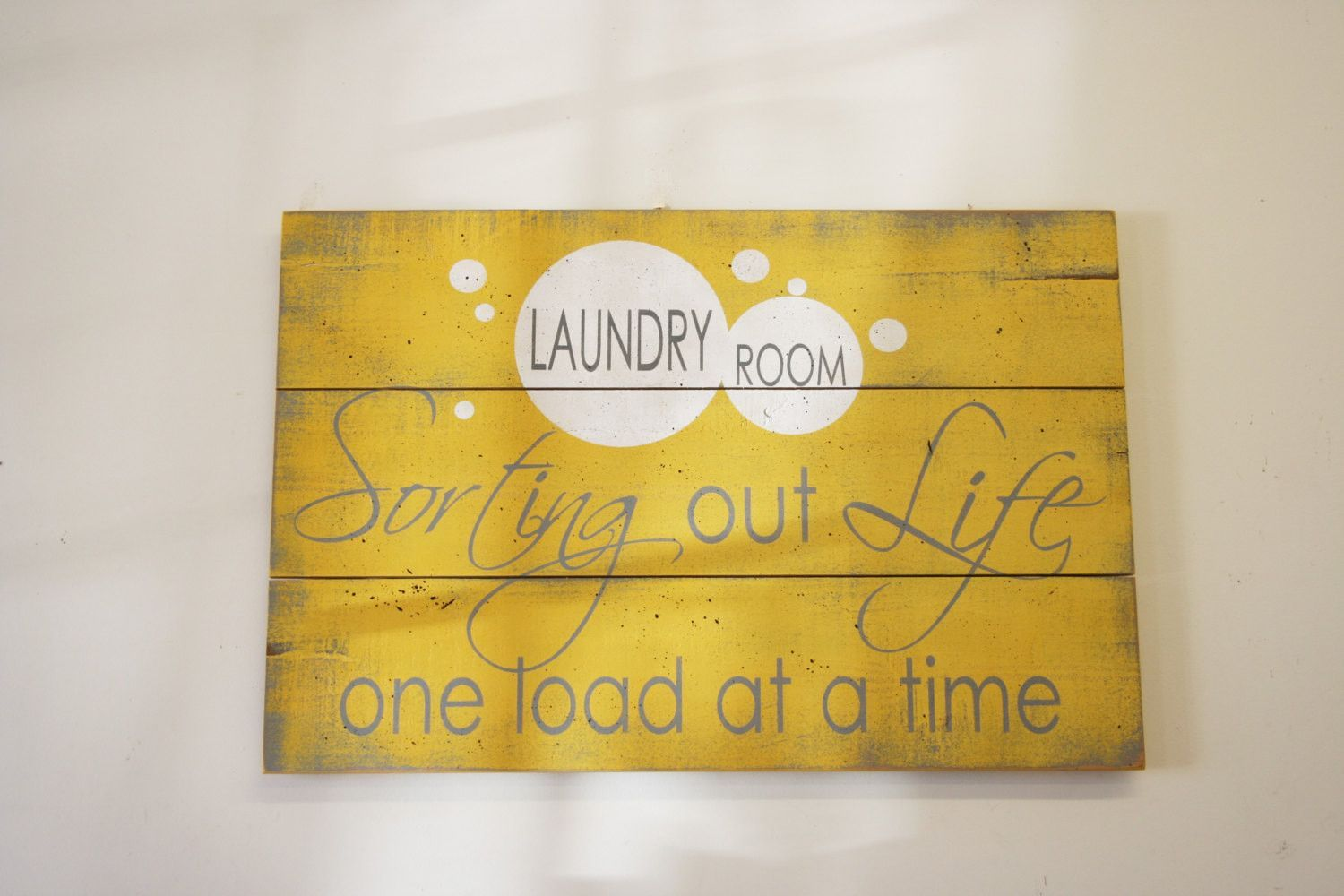 Sorting Our Life One Load At A Time Laundry Room Sign | Laundry ...