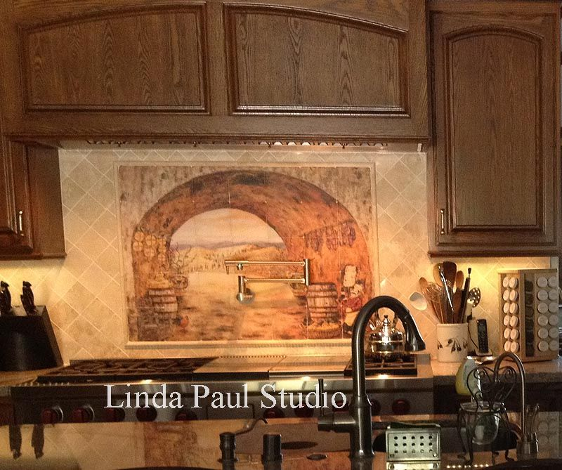 Tuscan Backsplash Tile Wall Murals Tiles Backsplashes Backsplash Mural Tuscan Tile Backsplash Tile Mural