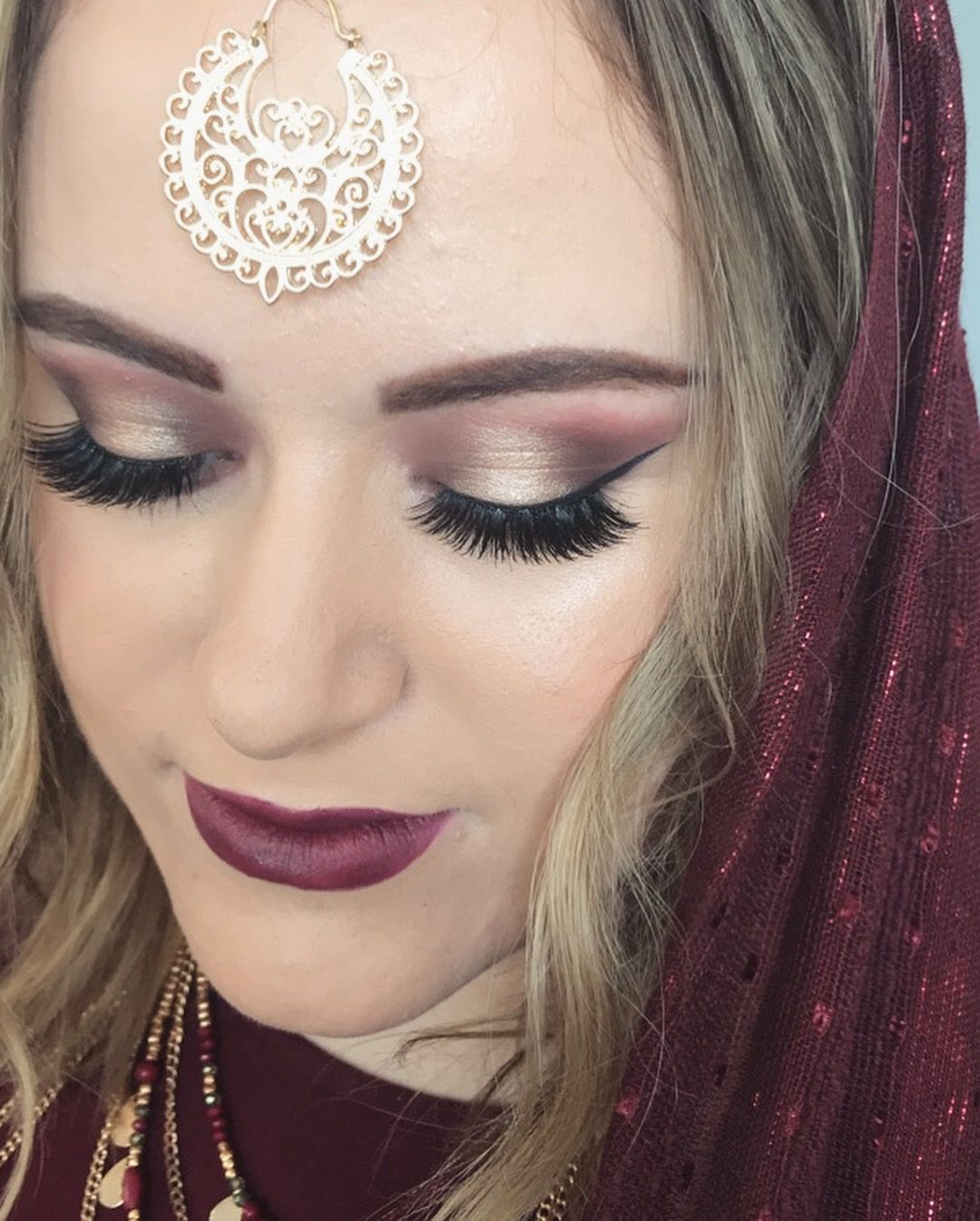 modern renaissance eye makeup for cultural bridal makeup