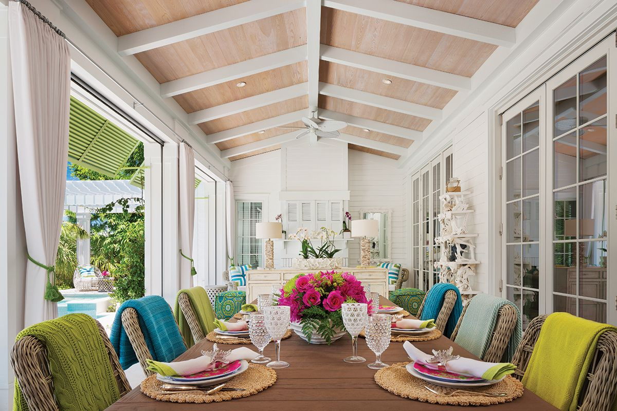 Palm Beach Cottage Blends Color And Charisma Outdoor Curtains